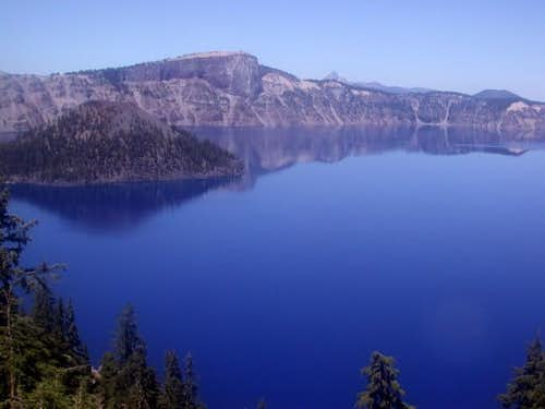 Crater Lake, Wizard Island,...