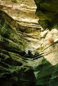 Gunsight Canyon Rappel