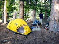 Camp at Dollar lake