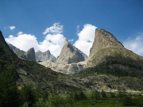 Area of Mont Blanc from Val Veny