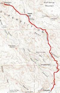 Weavers Needle Topographic Map