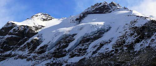 La Grande Traversiére (3.496 m) e la Punta Bassac sud (3.461 m)