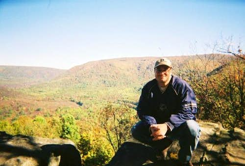 SE Laurel Highlands from Baughman\'s Rock in Ohiopyle State Park Fall 2004