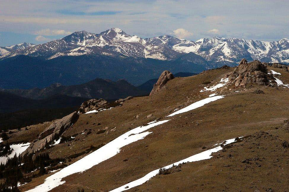 Longs Peak from North Signal Mountain