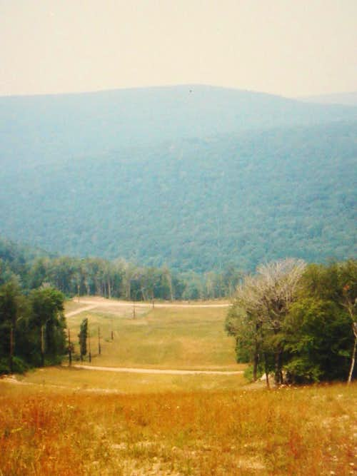 View from the North Face slope at Seven Springs Summer 1987