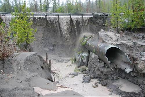 Road and culvert