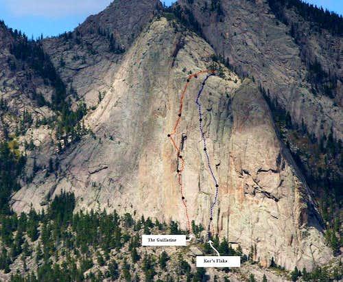 Climbing Routes On Sundance Buttress