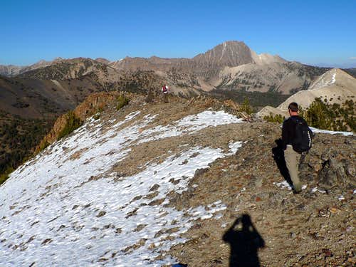 Heading to the lower summit