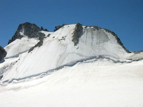 The north face of the Tete...
