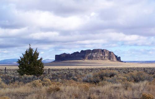 Fort Rock from Fort Rock Road