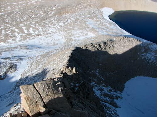 Looking down the North Ridge