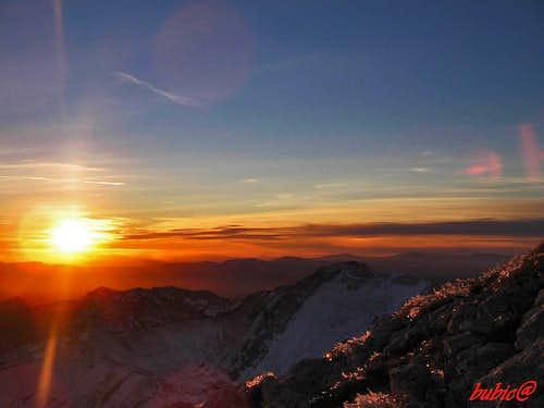 Sunset from Bobotov kuk