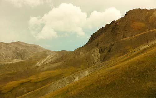 West from Bear Creek Pass