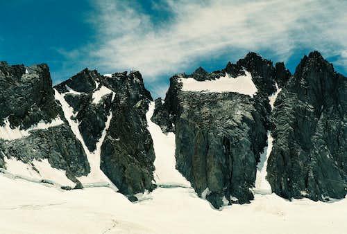Polemonium Peak, North Palisade and Starlight Peak