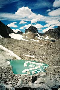 Glacial pool at the base of the Palisade Glacier