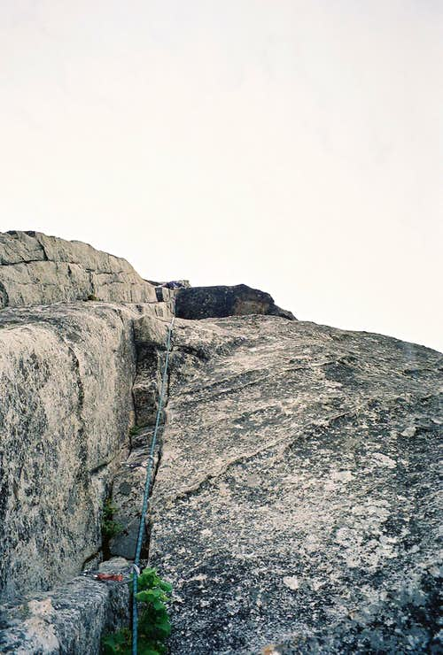 The Second (Crux) Pitch of Haystack, Lover's Leap