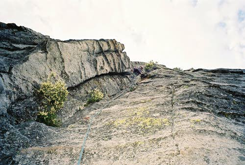 On the first pitch of Haystack Crack, Lover's Leap