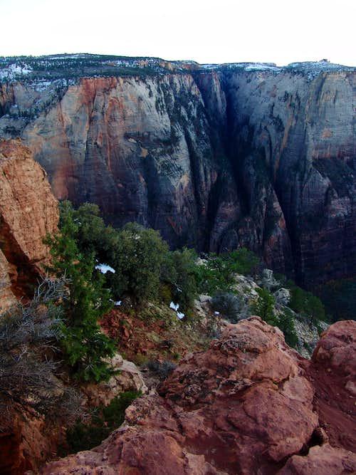 The shadows of Hidden Canyon