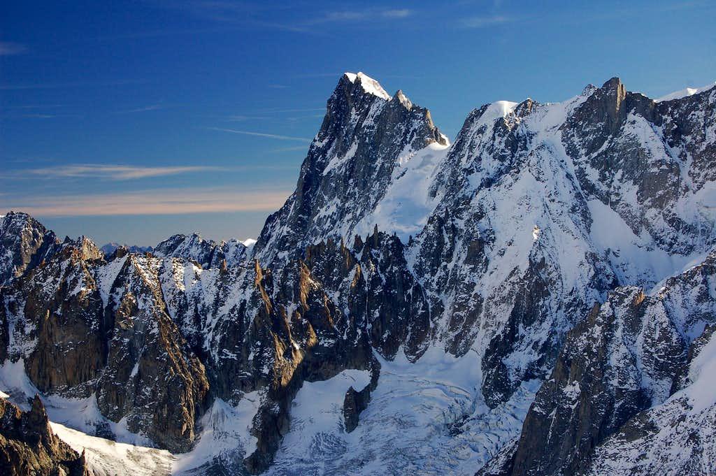 Grandes Jorasses from the Col du Midi