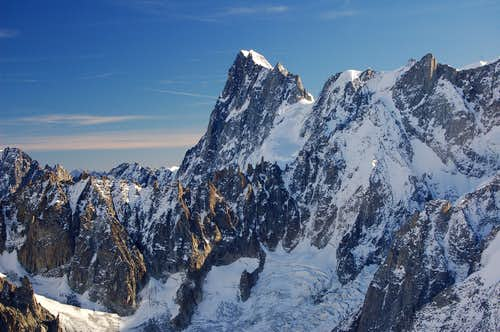Grandes Jorasses from the Col du Midi