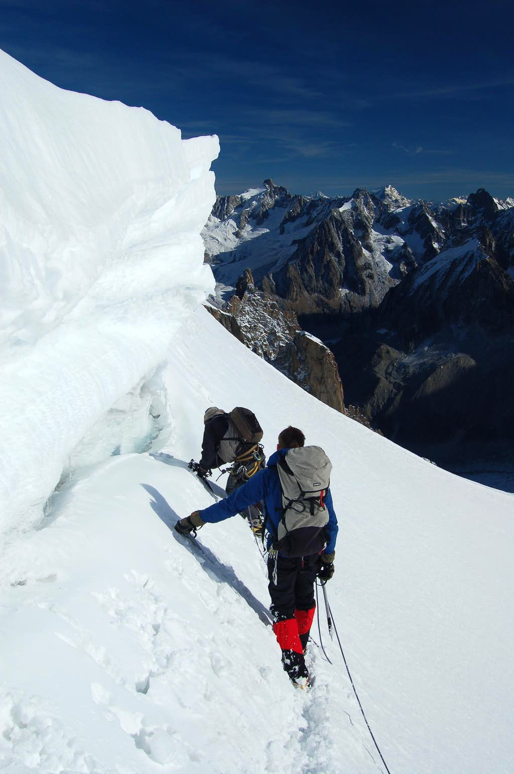 Close to the start of the Midi Plan Traverse