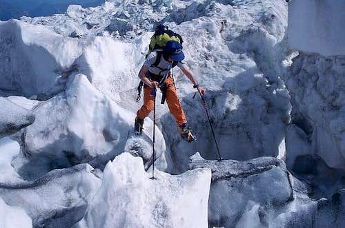 Jonction Ice-Break - Glacier des Bossons