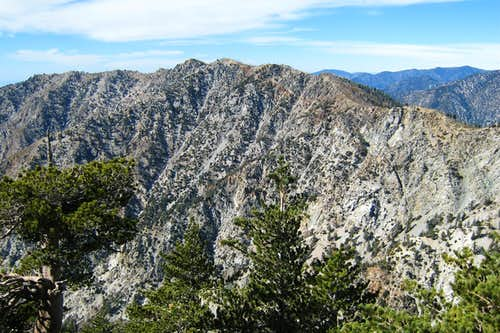 View NW from summit of Cucamonga Peak