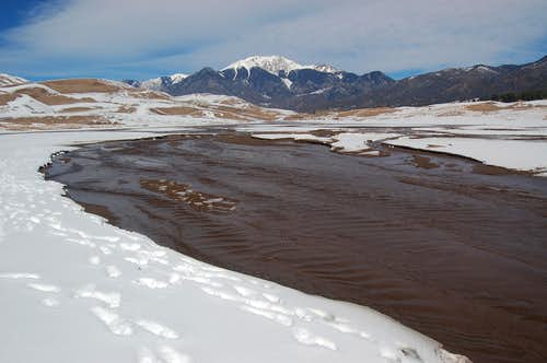 Medano Creek and Mount Herard