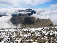 Looking west from near the summit of Mulhacén towards 3394m Veleta