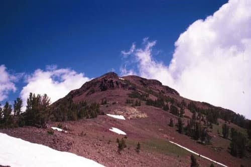 Ruby Peak from southwest on...