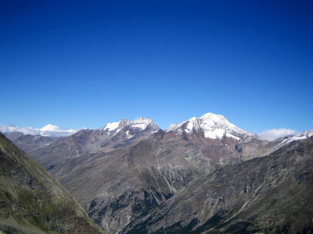 View to Weissmies, Lagginhorn, Fletschhorn, Jegihorn