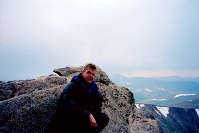 Me almost at the Mt. Evans...