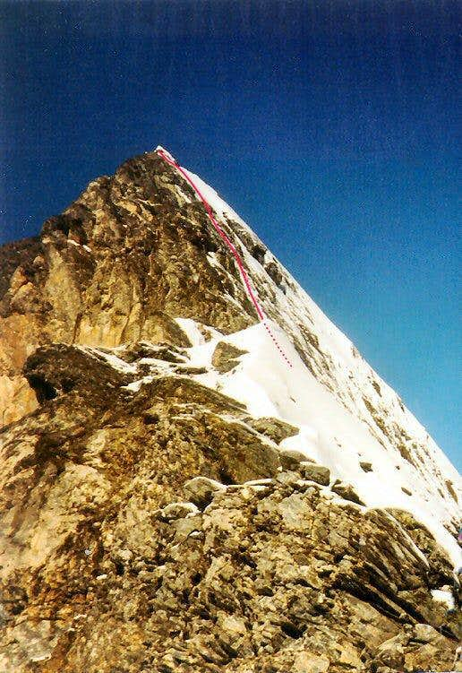 Typical ground on Mittellegi Ridge