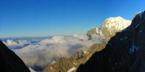 Aiguille de Rochefort at sunrise and sunset