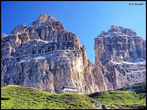 Tre Cime from the south