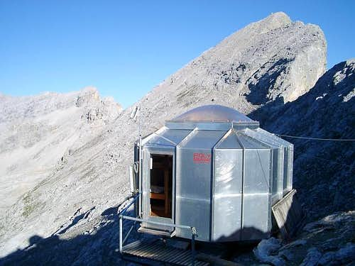 The Bivi-Hut on top of the...