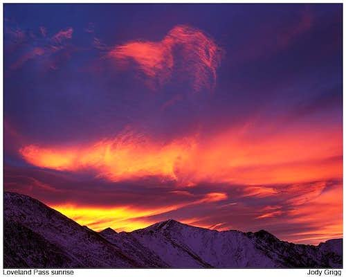 Loveland Pass Sunrise, Colorado