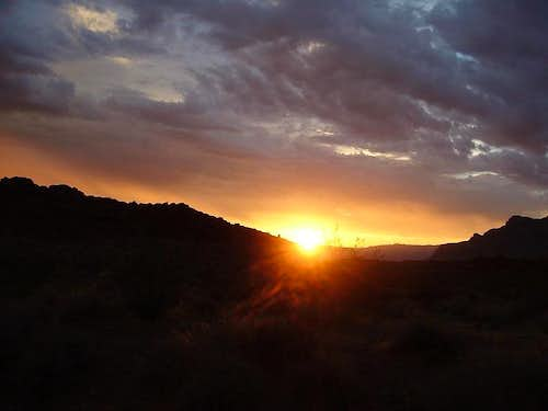 Sunset in Chaco Canyon