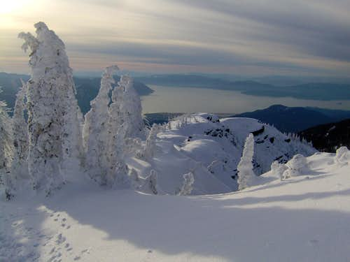 View of Lake Pend Oreille -just below the summit.