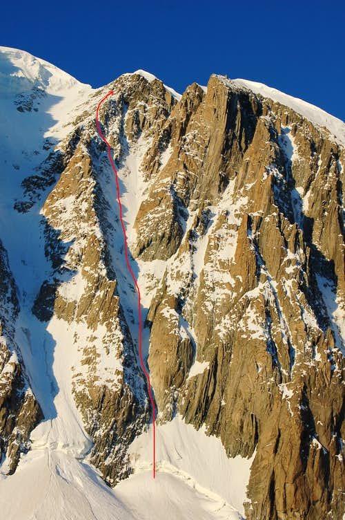 The Direct Finish on Jager Couloir