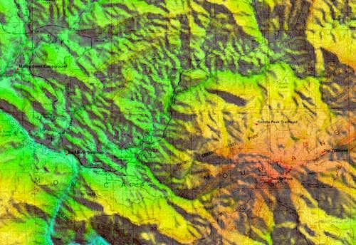 Saddle Peak Topo Map