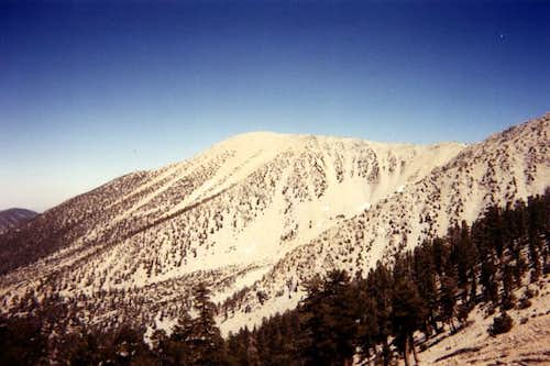 The west face of San Gorgonio...