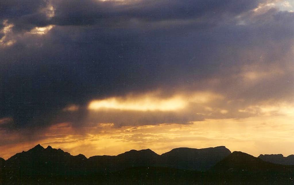 Sunset from Engineer Pass
