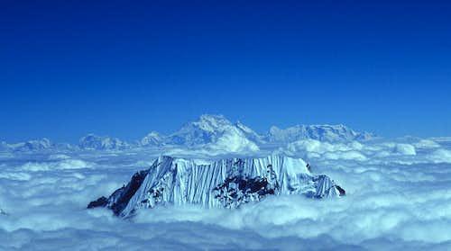 Closeup of Kangchenjunga from Mera