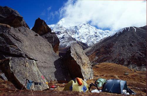 Camp in Upper Hongu