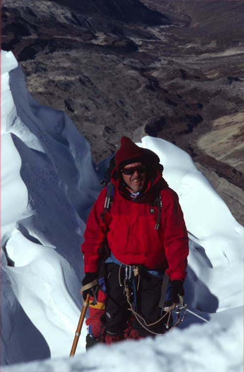 Last steps below summit