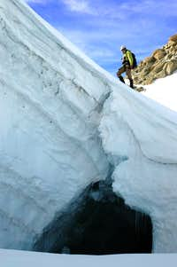 Crevasse near the Cosmiques hut