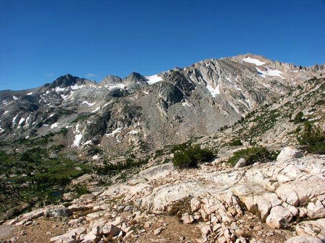 White Mountain and the summit...