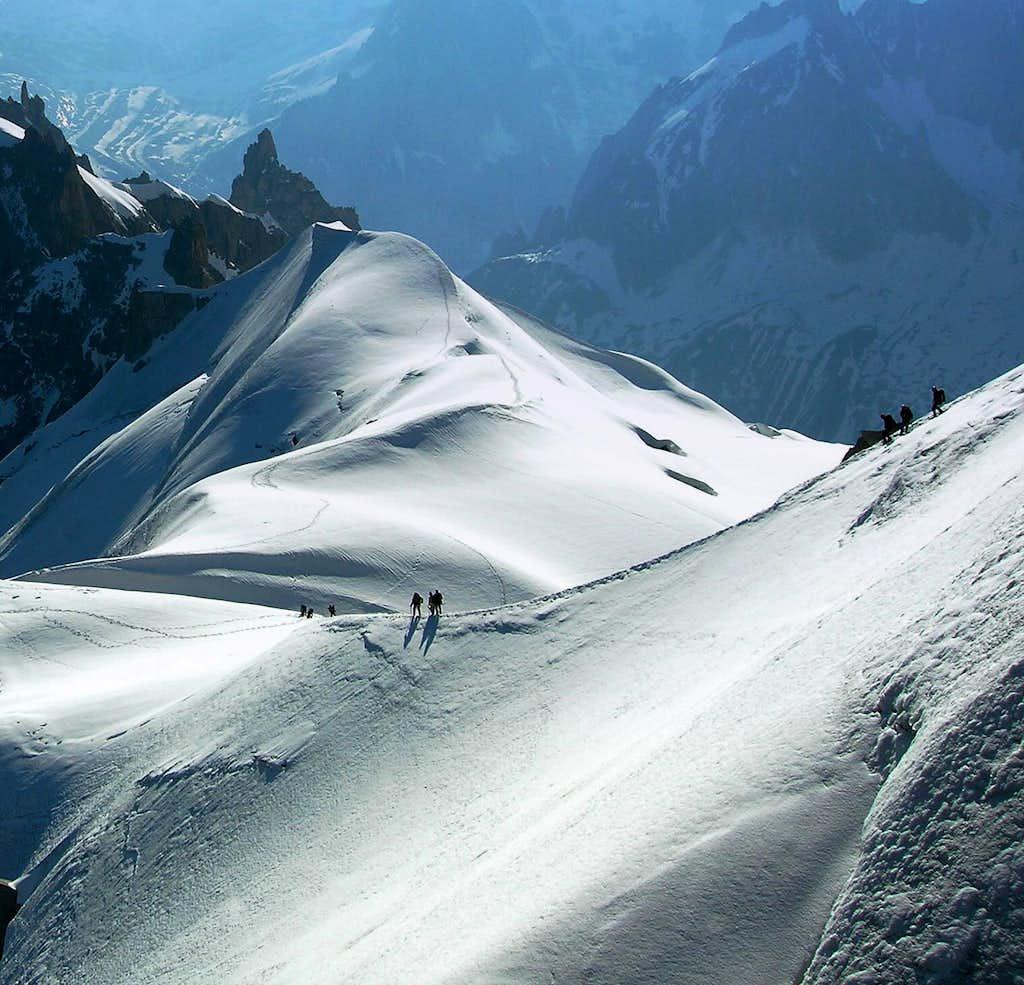 Descent Aiguille du Midi ...