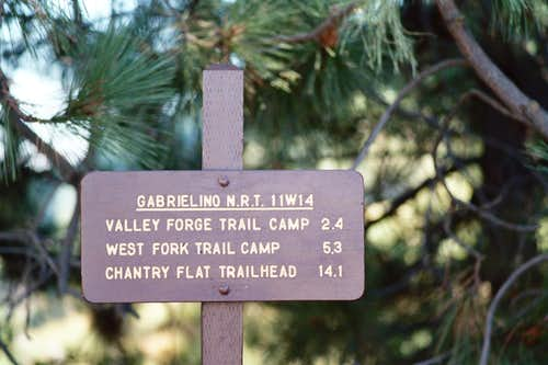 Destinations from Red Box Trailhead